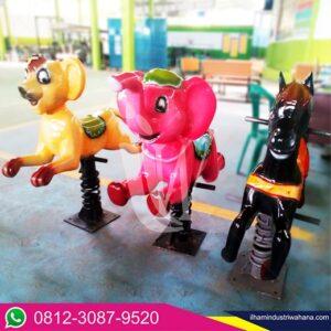 playground wahana taman mainan pegas berbagai karakter iiw